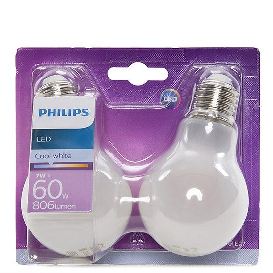 Ampoule LED 'Philips' E27 A60 7W x2