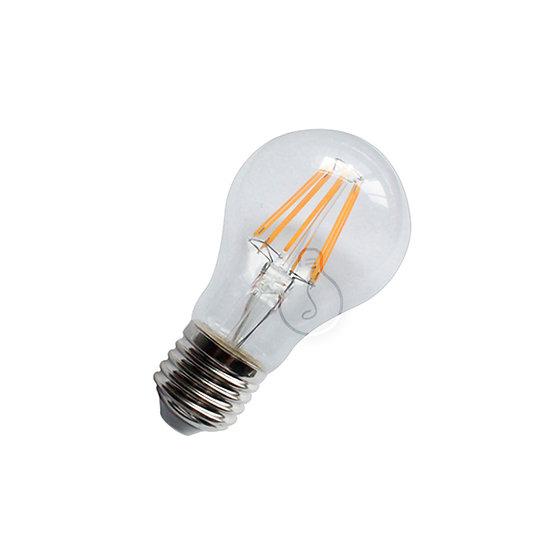 Ampoule LED E27 'Hirson' Transparent - Blanc Chaud