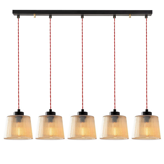 Suspension LED 'Garris'Noir 5 x E27