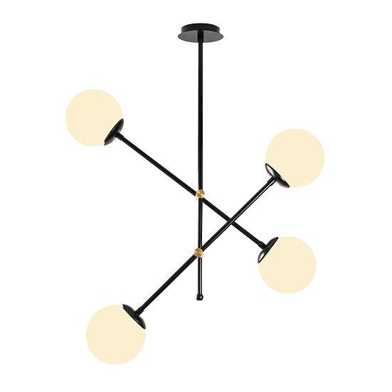 Suspension LED 'Bunus'Noir 4 x E27