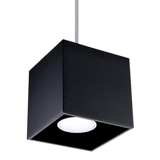 Suspension LED 'Cilly' Noir IP20Câble AjusTable 1 xGU10 Sans Ampoule