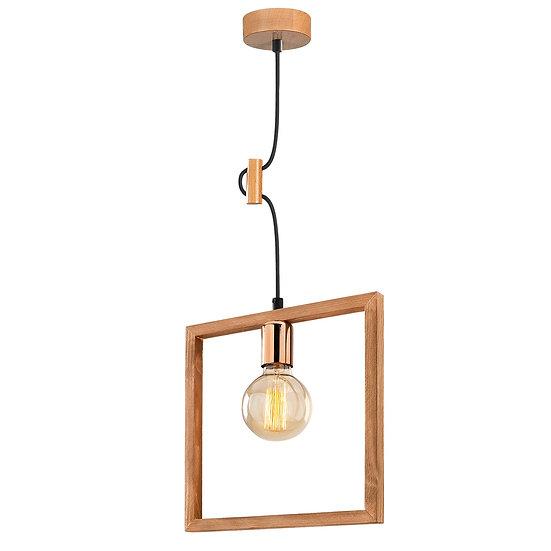 Suspension LED 'Hasparren' Noyer 1 x E27