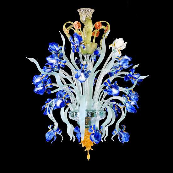 Suspension LED En Verre 'Murano' Fait Main'Iris Van Gogh'24 x G9