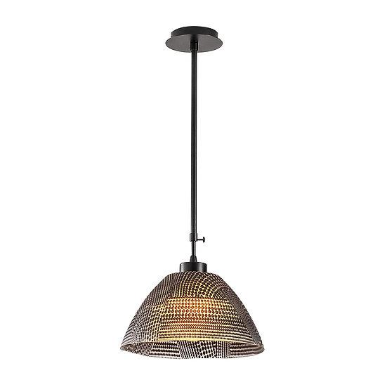 Suspension LED 'Gamarthe'Noir 1 x E27
