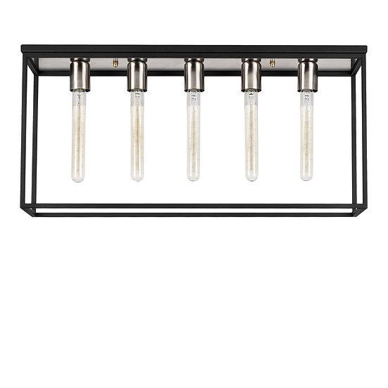 Suspension LED 'Cépet 04' Nickel/Noir 5 x E27