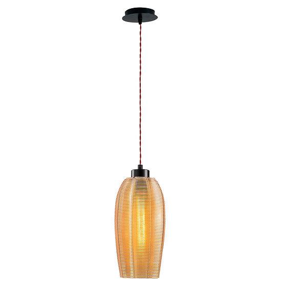 Suspension LED 'Gomer'Noir/Rouge 1 x E27