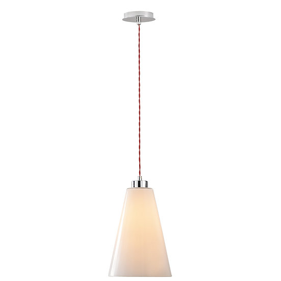 Suspension LED 'Gayon' Chrome /Rouge 1 x E27