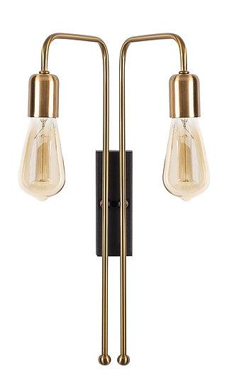 Applique Murale LED 'Gouves 3511'Vintage/Noir 2 xE27