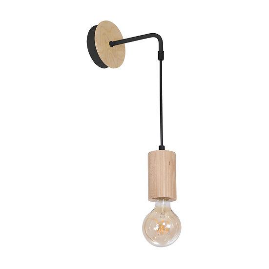 Applique Murale LED 'Cerneux' 1 xE27 Bois +Métal Sans Ampoule