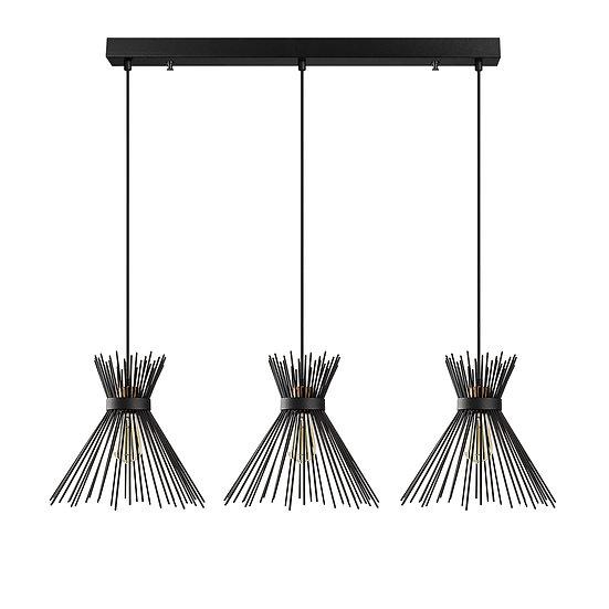 Suspension LED 'Capens'Noir 3 x E27