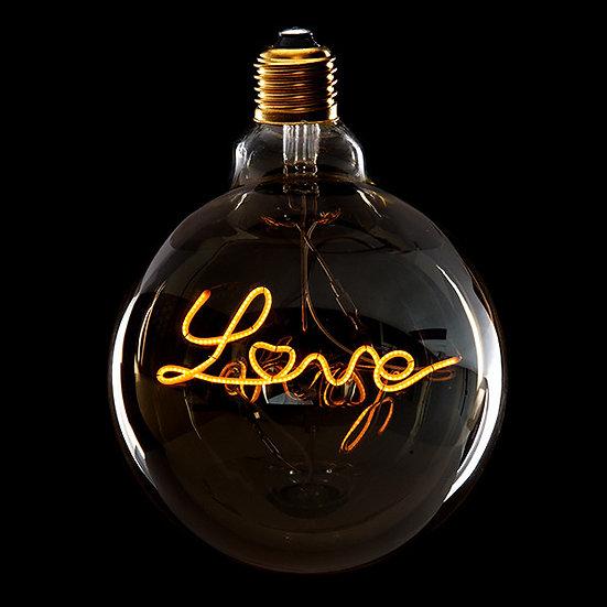 Ampoule Vintage Love E27 'Margaux-Cantenac' 4W Dimmable G125 Verre Ambré