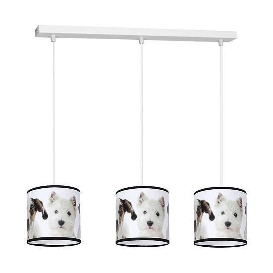 Suspension LED 'Clères' 3 xE27 Métal + PVC Sans Ampoule