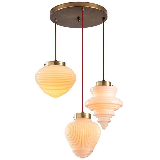 Suspension LED 'Gurs'Rouge 3 x E27