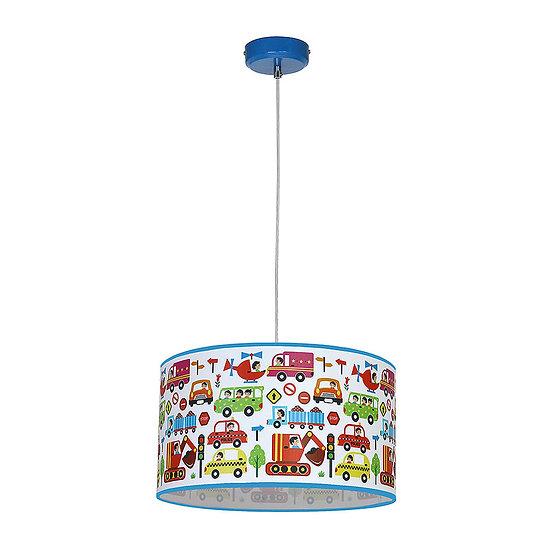 Suspension LED 'FontainelesBassets' 1 xE27 Métal + PVC Sans Ampoule