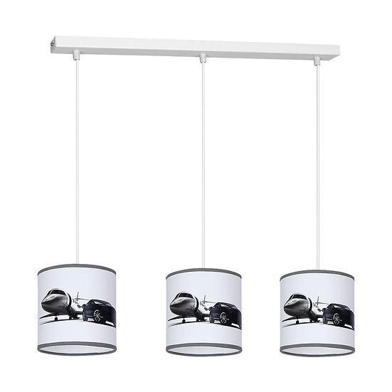 Suspension LED 'Doudeauville' 3 xE27 Métal + PVC Sans Ampoule