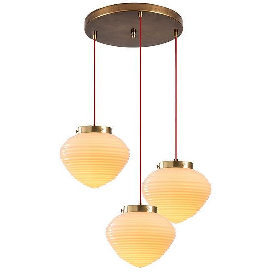 Suspension LED 'Guiche'Rouge 3 x E27