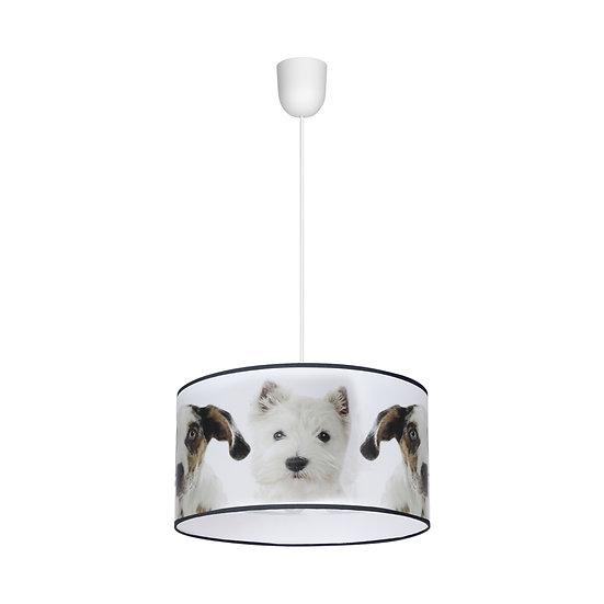 Suspension LED 'Clères' 1 xE27 Métal + PVC Sans Ampoule