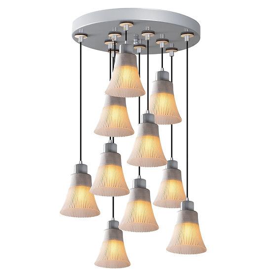 Suspension LED 'Etsaut'Argent 10 x E27