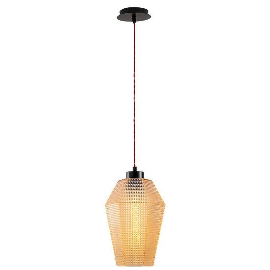 Suspension LED 'Guéthary'Noir 1 x E27