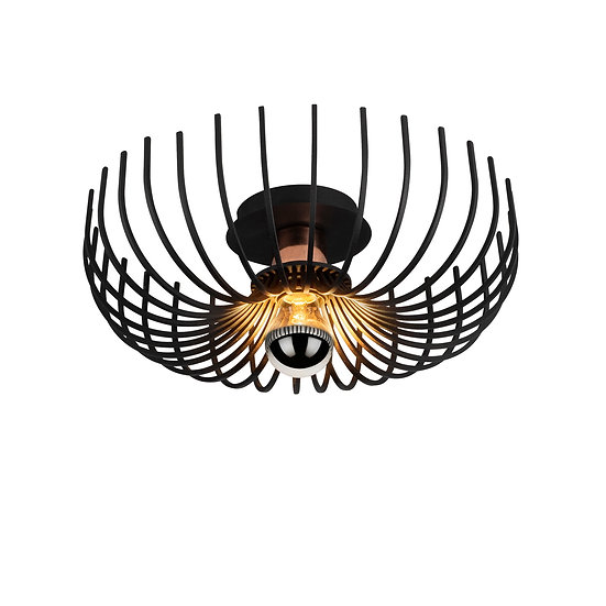 Suspension LED 'Estialescq'Noir 1 x E27