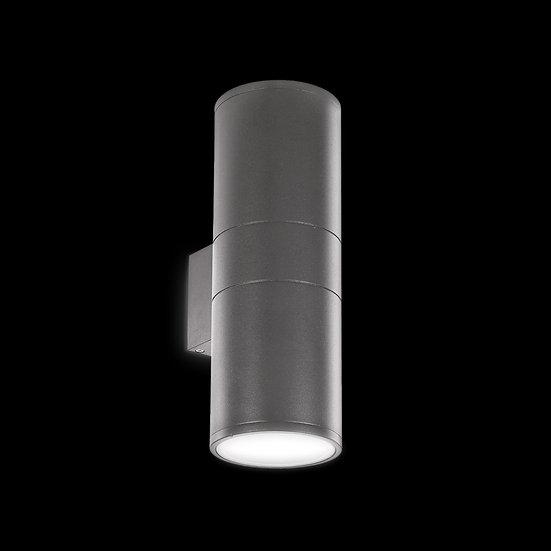 Applique Murale LED 'Bouhey' Anthracite 2 xE27 IP54 Sans Ampoule