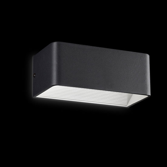 Applique Murale LED 'Foissy' Noir 12W 720Lm 3000k