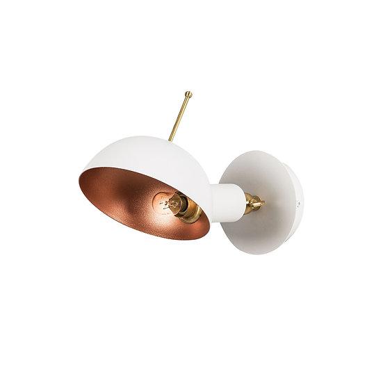 Applique Murale LED 'Alette 653'Blanc/Cuivre 1 xE27