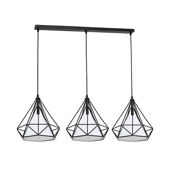 Suspension LED 'Guerquesalles' 3 xE27 Métal + PVC Sans Ampoule
