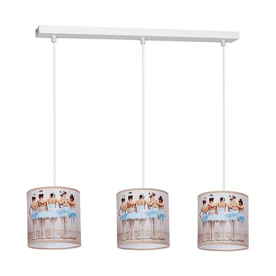 Suspension LED 'Conteville' 3 xE27 Métal + PVC Sans Ampoule