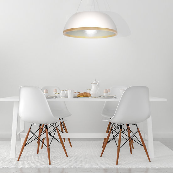 Suspension LED 'Graimbouville' 3 xE27 Compósito +Bois +Métal Sans Ampoule