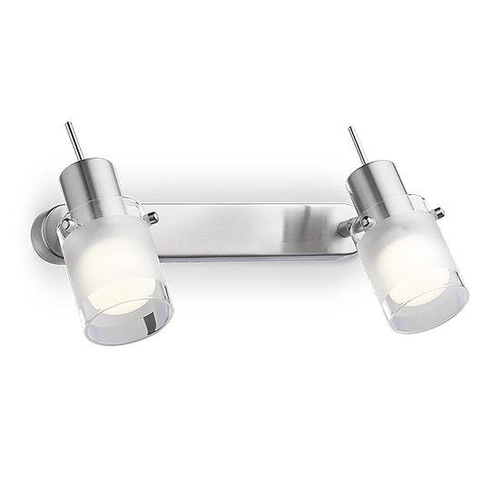 Applique Murale LED 'ELIS' 2 xE14 Ampoules Non Fourni