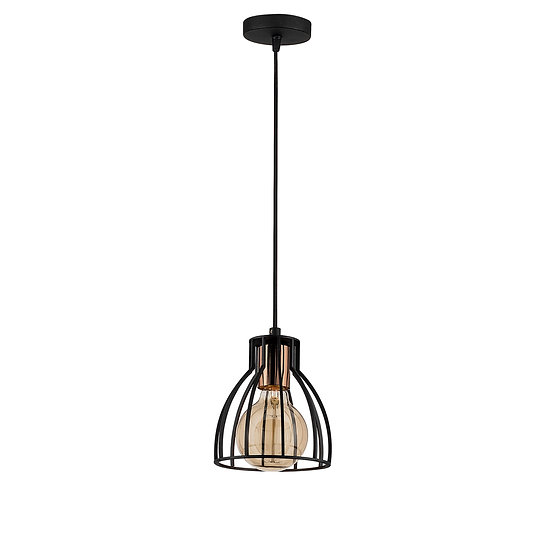 Suspension LED 'Cathervielle' Noir 1 x E27