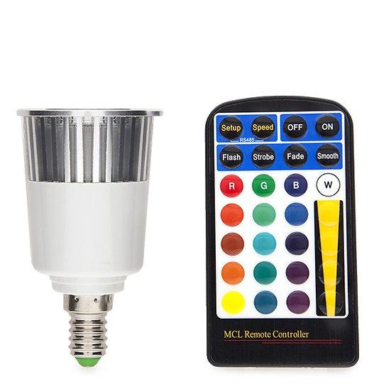 Ampoule LED RGB 'Pont-de-Metz' 5W E14 Télécommande