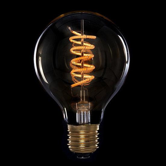 Ampoule Vintage LED Dimmable G80 'Bellefond' Vortice 4W E27 Verre Ambré