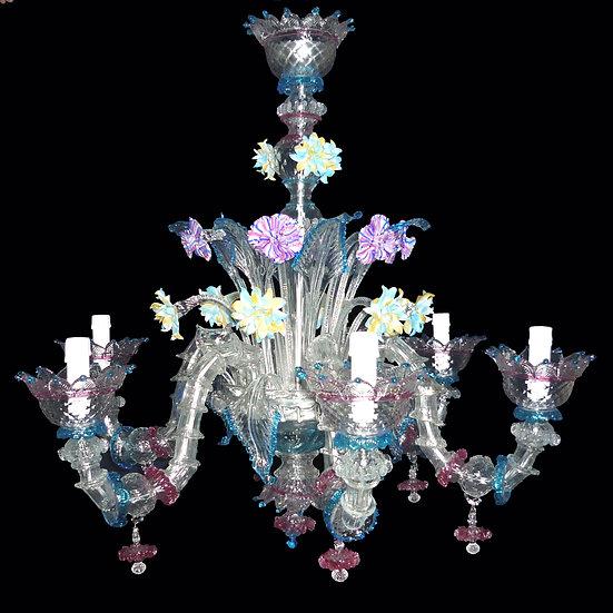 Suspension LED En Verre 'Murano' Fait Main'Labia Semirezzonico'6 x E14
