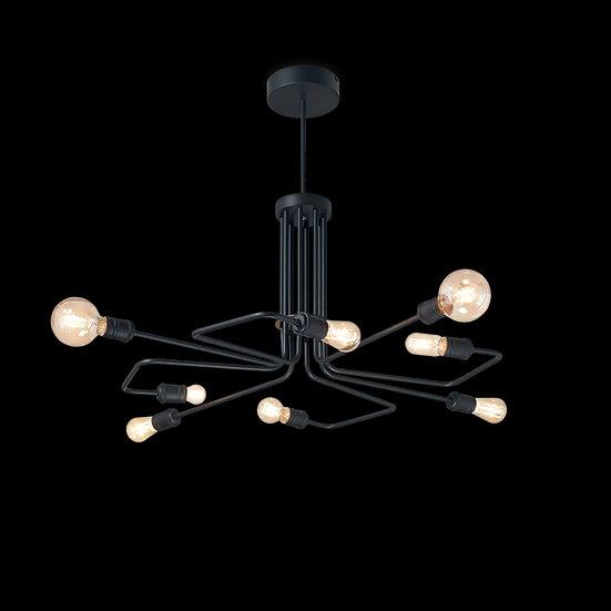 Suspension LED 'Flavignerot'Noir 8 xE27