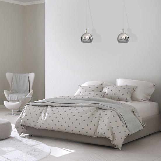 Suspension LED 'Criquiers' 1 xE27 Métal +Verre Sans Ampoule