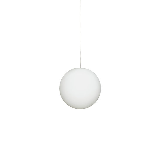Suspension LED En Verre 'Sinceny'M 300 mm Blanc 1 x E27