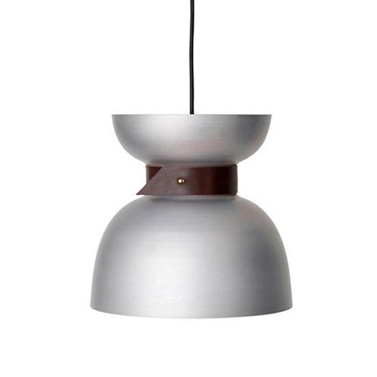 Suspension LED 'Gomiécourt' Aluminium/Cuir 1 x E27