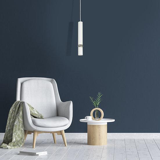 Suspension LED 'Bénouville' 1 xGU10 Métal +Verre Sans Ampoule