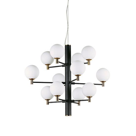 Suspension LED 'COPERNICO' 12 xG9 Ampoules Fourni