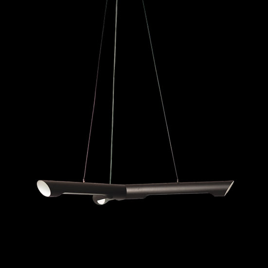 Suspension LED 'Fontenilles 3' Noir/ Blanc 21W 1950Lm 3000K