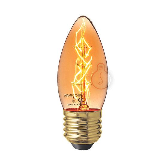 Ampoule E27 'Houetteville' Filament Carbone ambre Dimmable Blanc Chaud