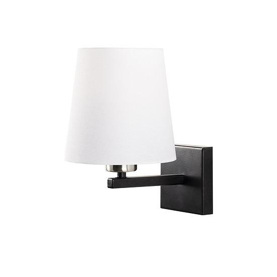 Applique Murale LED 'Guînes 4665'Noir/Nickel/Blanc Neutre 1 xE27