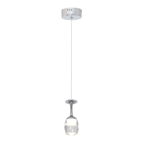 Suspension LED 'Douvrend' 5W 350LmMétal_Acrylique