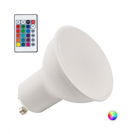 Ampoule LED RGB 'Houilles' 5W GU10 Télécommande