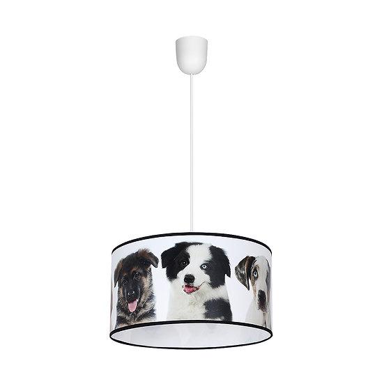 Suspension LED 'Cleuville' 1 xE27 Métal + PVC Sans Ampoule