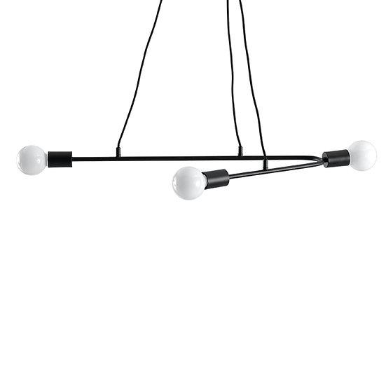 Suspension LED 'Dravegny'Noir IP20 3 xE27