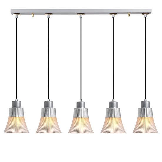 Suspension LED 'Etsaut'Argent 5 x E27