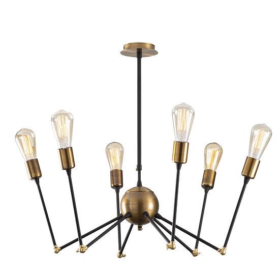 Suspension LED 'Castelgaillard'Noir 6 x E27
